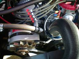 alternator smog pump bracket mod pics ford truck and this is what it looks like installed on my 1985 f150 302 engine