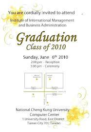 Graduation Ceremony Invitation Letter With Graduation Invitation For