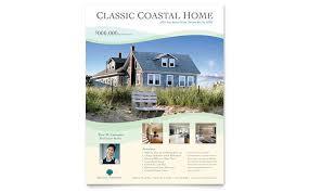 realtor flyers templates coastal real estate flyer template design