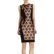 Prabal Gurung Size Chart Brown Lace Panel Dress Style Of Prabal Gurung