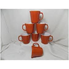 Start by giving your coffee pot a good rinse. Vintage Cinnamon Burnt Orange Pyrex Corning Ware Mugs Ma Price S Attic Ruby Lane