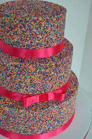 Decorating With Sprinkles Pink Sprinkle Cake Cakecentralcom