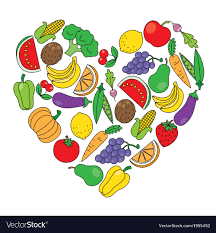 fruit and vegetables heart. Contemporary Heart Heart Made Of Fruits And Vegetables Vector Image And Fruit Vegetables