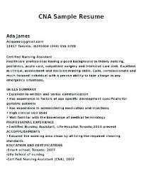 Nurse Assistant Cna Cna Resume Example On Resume Cover Letter ...