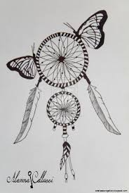 How To Draw A Dream Catcher Drawn dreamcatcher pinterest Pencil and in color drawn 61