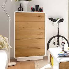 Schlafzimmer Kommode Baddy In Weiß Mit Eiche Furniert