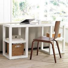 awesome computer narrow desks for small spaces classic themes ideas  impressive motive wooden brown chair with