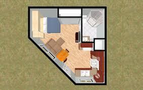 Small 2 Bedroom Cottage Plans Cozyhomeplanscom 330 Sq Ft Small House Floor Plan Octagon 4 Plex