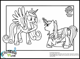 My Little Pony Friendship Is Magic Coloring Pages With Competitive
