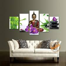 orchid wall art awesome 5 piece wall art picture buddha bamboo flower canvas print painting of