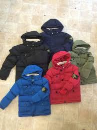 kids stone island and canada goose jackets