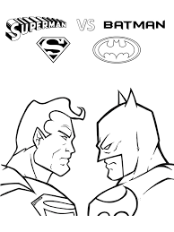 Small Picture Superman Coloring Pages Free Printable Some with Batman and The