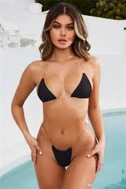 <b>2019 New</b> Split Bikini Solid Color <b>Transparent Belt</b> Ladies Swimsuit ...