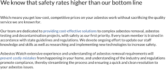 what does extensive experience mean asbestos testing gladstone