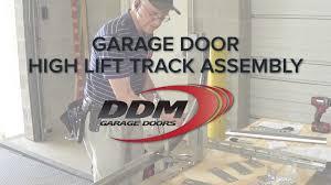 high lift garage doorGarage Door High Lift Track Assembly  YouTube