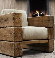 modern rustic wood furniture. Picture Idea About Wood Furniture: Railway Sleeper Arm Chair. Home-Dzine - Decorating A Home In Modern Rustic Style LOVE This Chair! Furniture M
