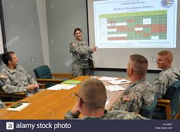 Capt. Stephanie Fields discusses the medical readiness of the Stock Photo -  Alamy