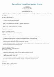 Resume Examples For Library Jobs Awesome Photos Resume Example