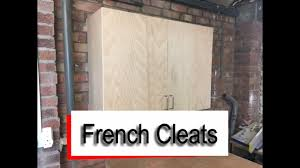 french cleats how to hang wall cupboards