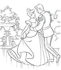 Cinderella Coloring Pages Online Free Games Princess Page Printable