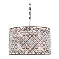 cassiel oil rubbed bronze drum crystal chandelier