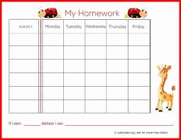 Free Homework Chart Printable Homework Chart Printable Free Printable Worksheets