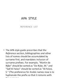 Apa Style Citation Writing