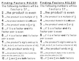 Factor Rules Printable Anchor Chart By Kasandra Yates Tpt