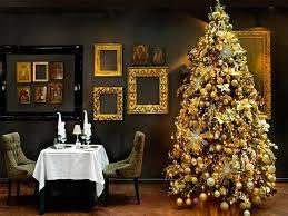 Gold Christmas Tree Decorating Ideas Trees
