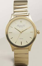 men s kenneth cole diamond dial gold tone watch 10025948