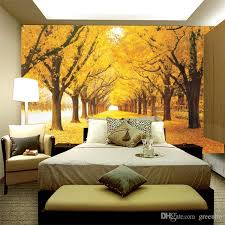 Small Picture Autumn Birch Street Photo Wallpaper Fallen Leaves Wall Mural Wall