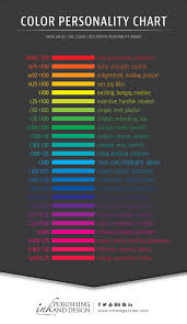 Eternal Ink Colour Chart Ink Publishing And Design Color Personality Chart