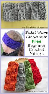 Free Crochet Designs For Beginners Basket Weave Ear Warmer Crochet Pattern Crochet Ear Warmer