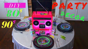diy 80s or 90s party decoration ideas neon glow in the dark party ideas