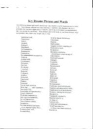 Resume Key Phrases Mesmerizing Key Resume Words And Phrases Related Post Breathelightco