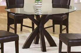 coaster home furnishings casual glass dining room table