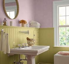 bathroom paint yellow. yellow and pink bathroom paint colors