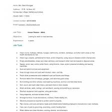 Housekeeping Resume Objective Examples Of Resumes Hospital