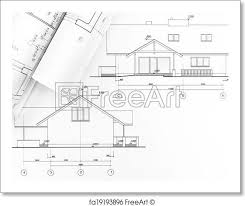 architectural drawings of modern houses. Free Art Print Of Architectural Draw Drawings Modern Houses