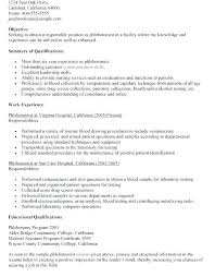 Phlebotomy Cover Letter Examples Download Entry Level Resume Entry