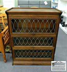 lawyer bookcase glass doors 1 solid oak barrister with leaded bookcases