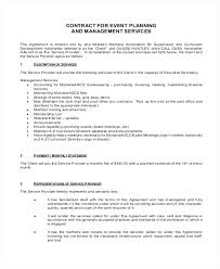 Event Planning Agreement Template – Freewarearena.info