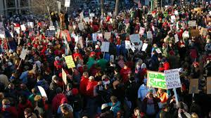 Protests continue at Wisconsin Capitol ...