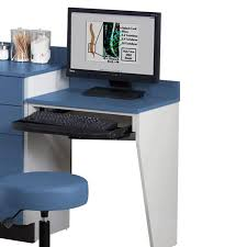 clinton computer station wall mount desk with one leg