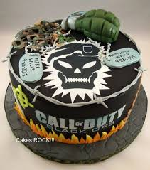 Call of Duty Black Ops Birthday Cake cake by Cakes ROCK