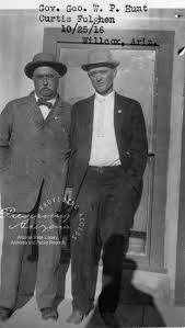Photograph of Arizona Governor George and Curtis Fulton in Willcox ...