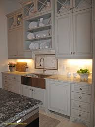 Under Cabinet Shelving Kitchen Kitchen Sink Grey Granite Countertop On Island With White Cabinet Also With Sink And Faucet Also Wasll Cabinet Also Panel Appliances Also Ceramic Tile Of