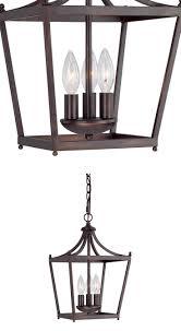 capital lighting fixture company stanton burnished bronze three light foyer pendant
