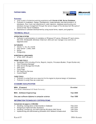 Resume Format For It Resume Format Oracle Dba Resume For 2 Year Experience  Resume For Your