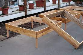 modular raised bed system for square
